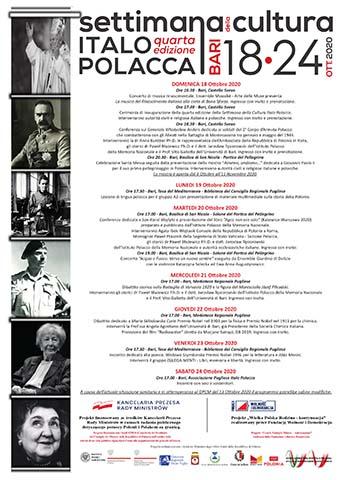 Settimana della Cultura Italo Polacca -  quarta edizione